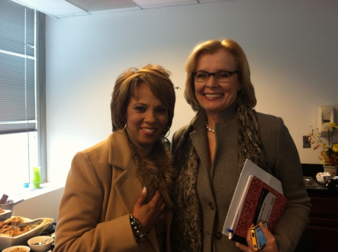 Sophia with Peggy Noonan