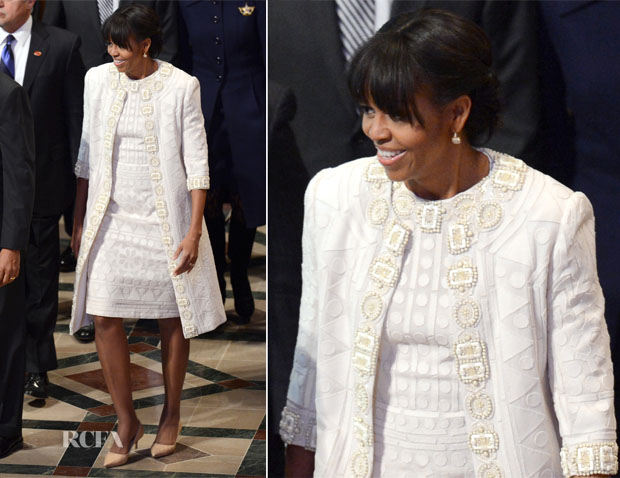 Michelle-Obama-In-Naeem-Khan-National-Prayer-Service