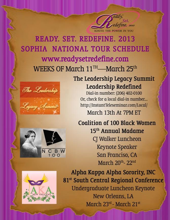 Schedule March 11-25